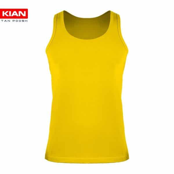 زیرپوش رکابی کلاسیک مردانه ساده پنبه زرد