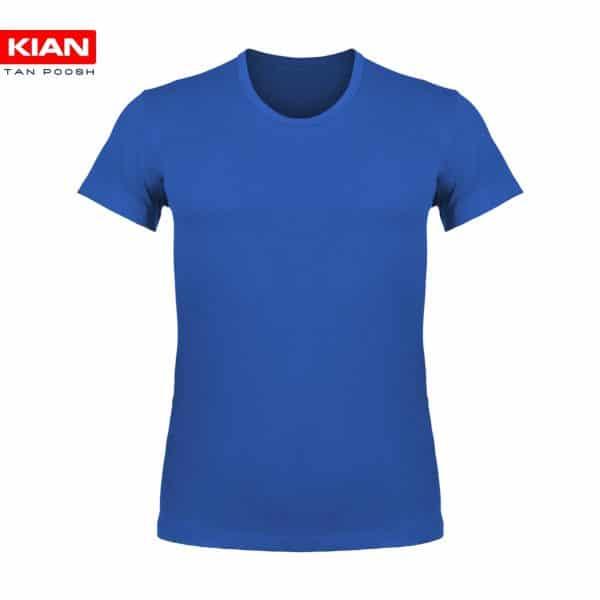 زیرپوش نیم آستین کلاسیک مردانه ساده پنبه آبی