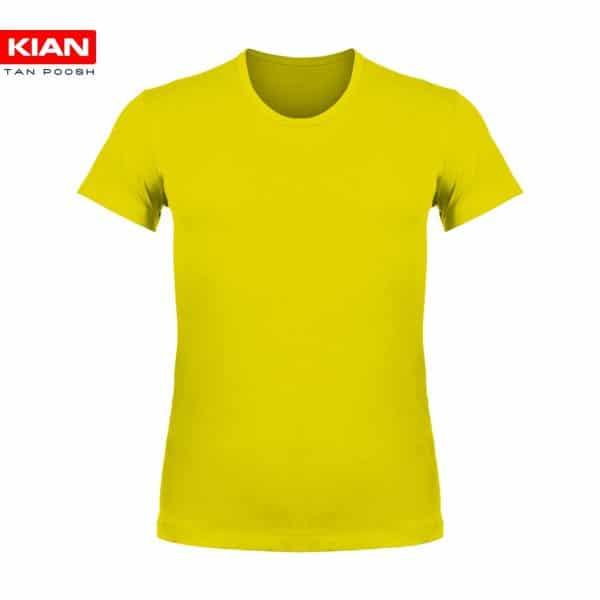 زیرپوش نیم آستین کلاسیک مردانه ساده پنبه زرد