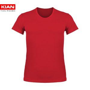 زیرپوش نیم آستین کلاسیک مردانه ساده پنبه قرمز روشن