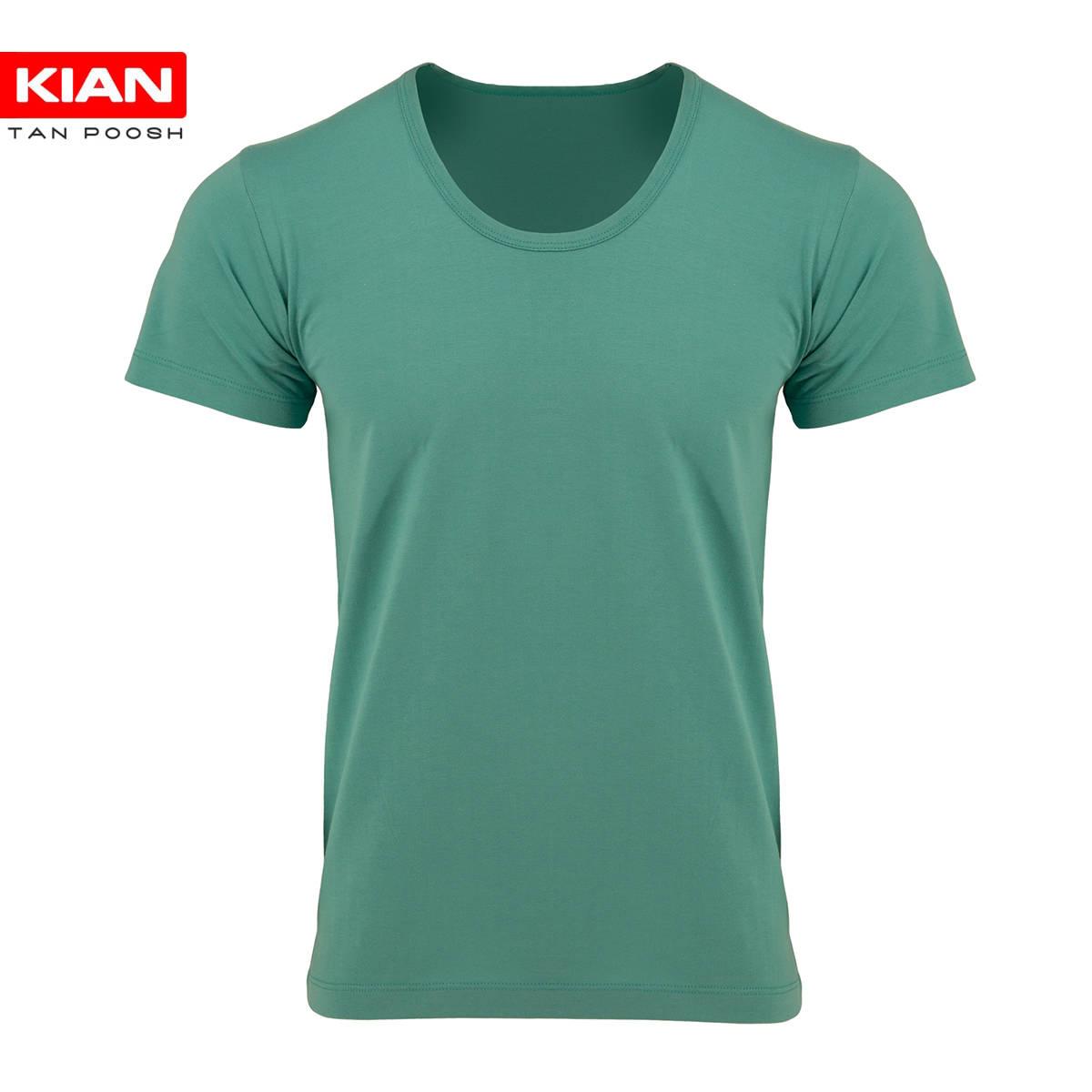 زیرپوش نیم آستین کلاسیک مردانه ساده پنبه سبز بنتون