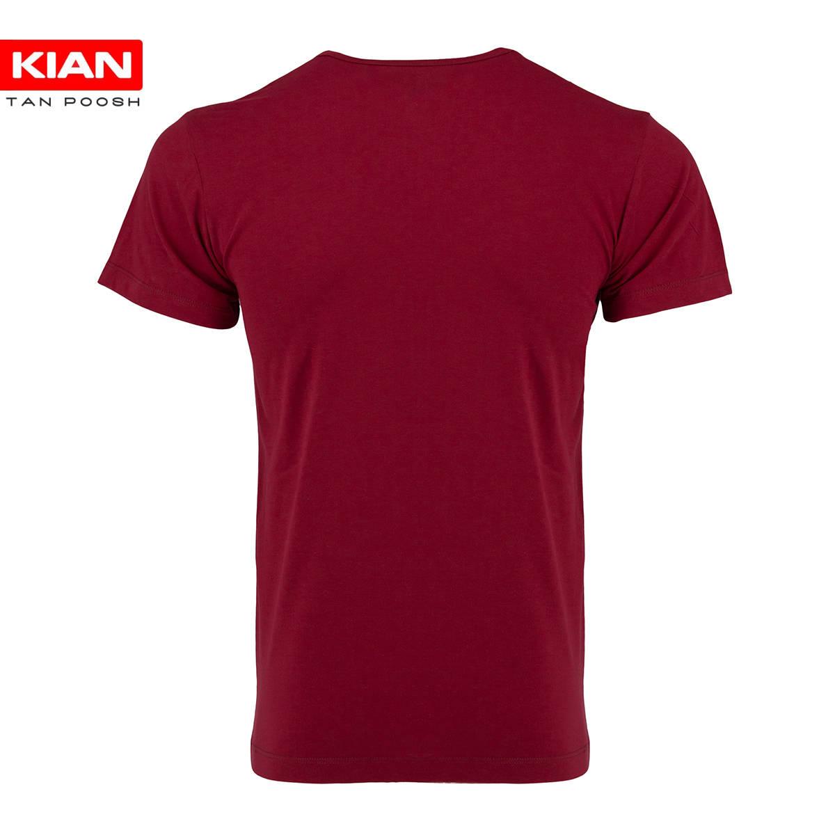زیرپوش نیم آستین کلاسیک مردانه ساده پنبه قرمز